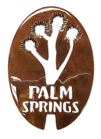 Palm Springs with Joshua Tree Oval - Magnet