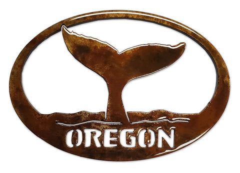 Whale Tail with Oregon - Magnet
