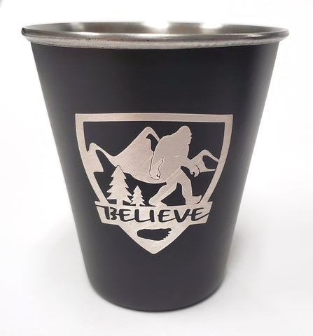 Sasquatch Believe - Stainless Steel Shot Glass