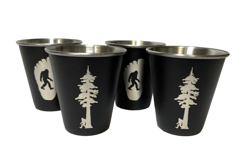 Redwood 4-Pack - Stainless Steel Shot Glass