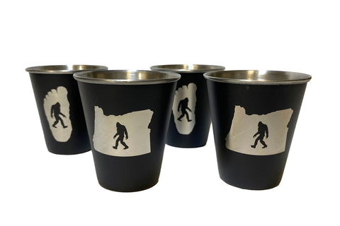 Oregon Bigfoot 4-Pack - Stainless Steel Shot Glass