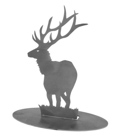 "Elk Stainless Steel Stand-Up 7.5"" Tall - Metal Art"