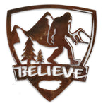 Believe Bigfoot Shield - Magnet