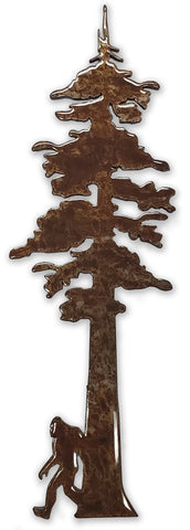 Redwood Tree with Bigfoot - Magnet
