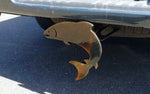 SQUATCH METALWORKS Jumping Salmon Trailer Hitch Cover for Trucks - Steel, Made in USA