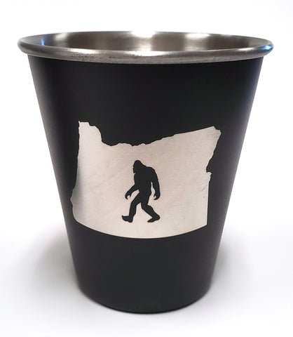 Oregon Bigfoot Stainless Steel Shot Glass
