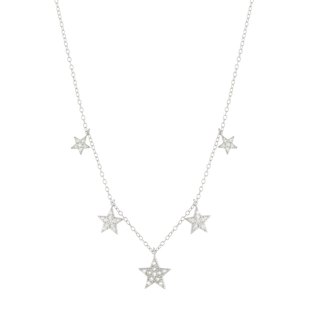 GRADUATED STAR NECKLACE