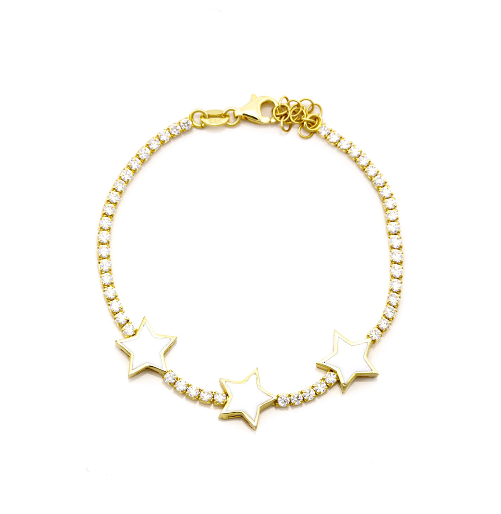 TRIPLE STAR WHITE BRACELET