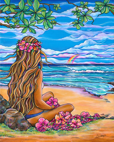 Moani Painting by Colleen Wilcox
