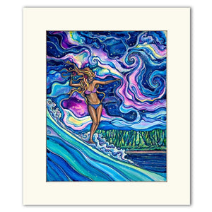 Cosmic Surf - Matted  Print