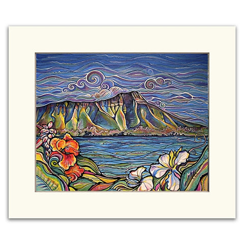 Diamond Head Wonder - Matted  Print