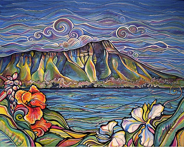 Diamond Head Wonder-Giclee(Canvas Print)