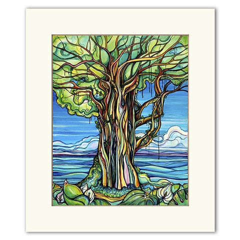 Enchanted Banyan - Matted  Print
