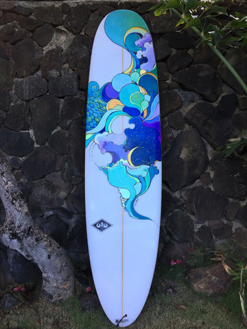 Abstract Ocean/ Sky Surfboard