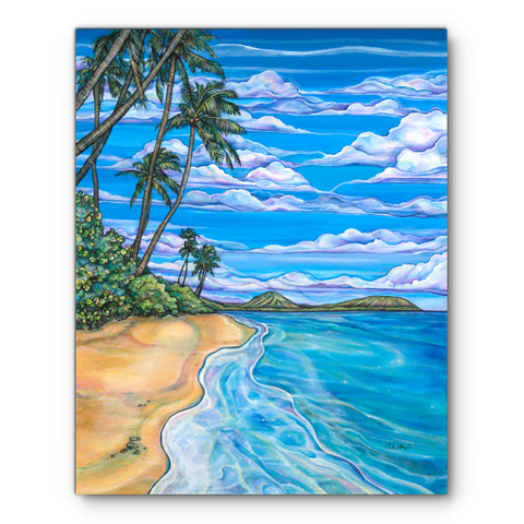 Kahala Beach- Giclee (Canvas Print)