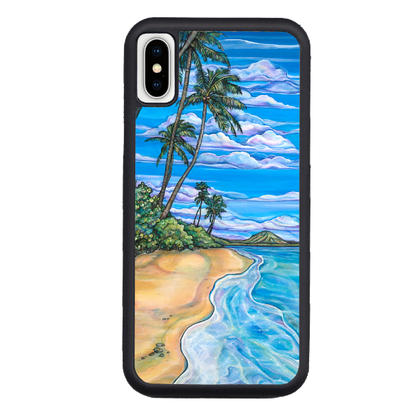 """Kahala Beach""  iPhone cases available in NEW Xs Max, Xs/X, 7/8 Plus, 7/8"