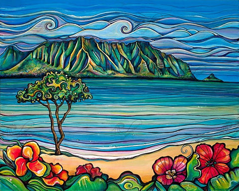 Kaneohe Bay-Giclee(Canvas Print)