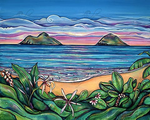 Lanikai Sunrise-Giclee(Canvas Print)