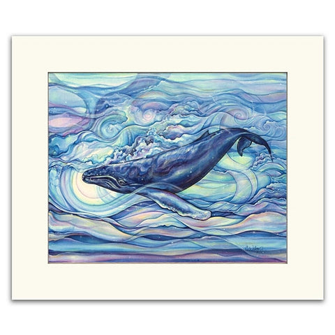 Mystic Blue - Matted  Print