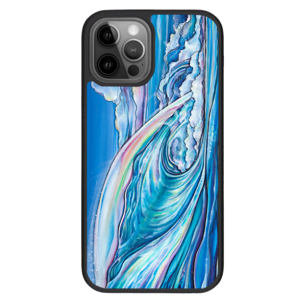 """Nalu Blue""  iPhone cases available in 12/12Pro, 12Pro Max, 11, 11 Pro, 11 Pro Max, Xs Max, Xs/X"