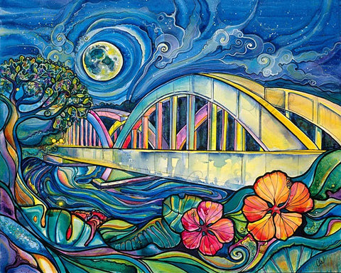 Rainbow Bridge-Giclee(Canvas Print)
