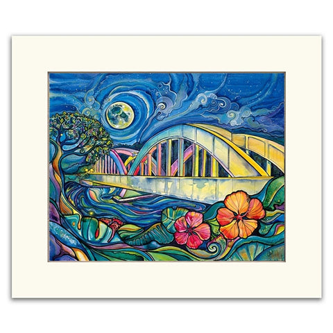 Rainbow Bridge - Matted  Print