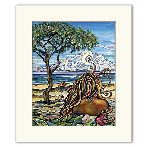 Rocky Point - Matted  Print
