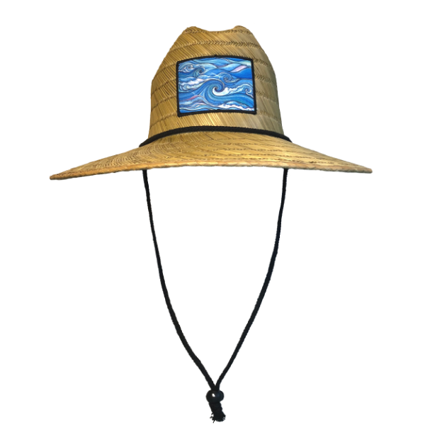 Waves - Deluxe Unisex Straw Hat
