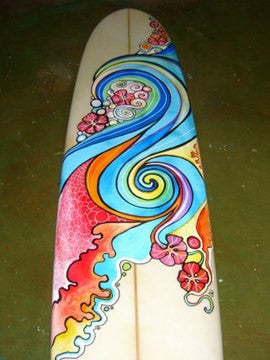 Abstract Wave Long Board