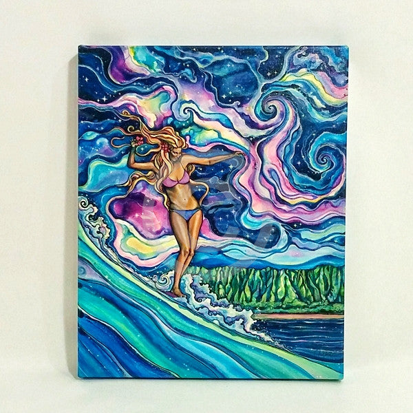 Cosmic Surf Giclee (Canvas Print)