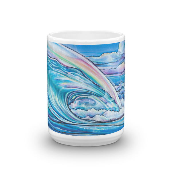 "NEW-""Nalu Blue"" 15 oz art mug"