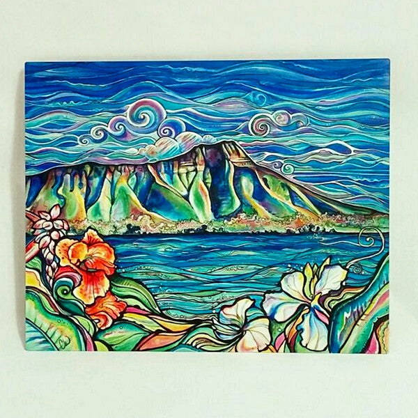 Diamond Head Wonder-Aluminum Print