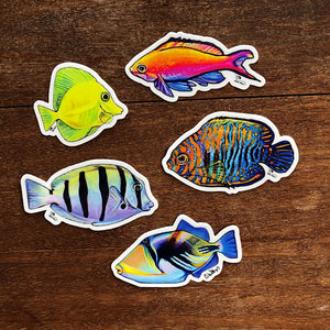 Hawaiian Fish Stickers 2nd Edition- Pack of 5