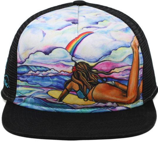 Rainbow's Edge Aloha Trucker Hat- Free Shipping within the US