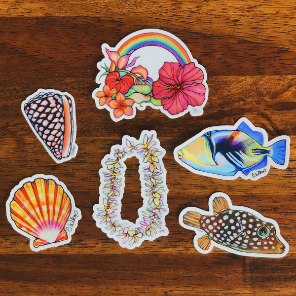 Hawaii Sticker Pack- Pack of 6