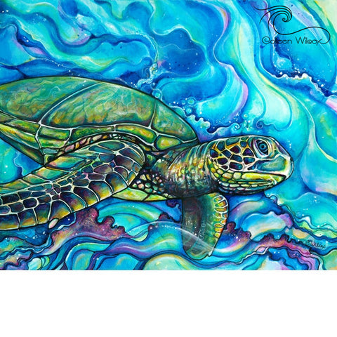 Honu Kai Giclee on Canvas (edition of 50)