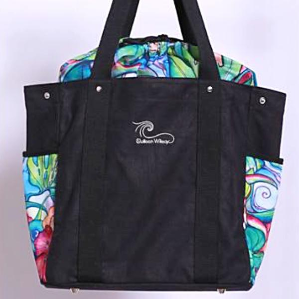 Paradise Canvas Tote in Black