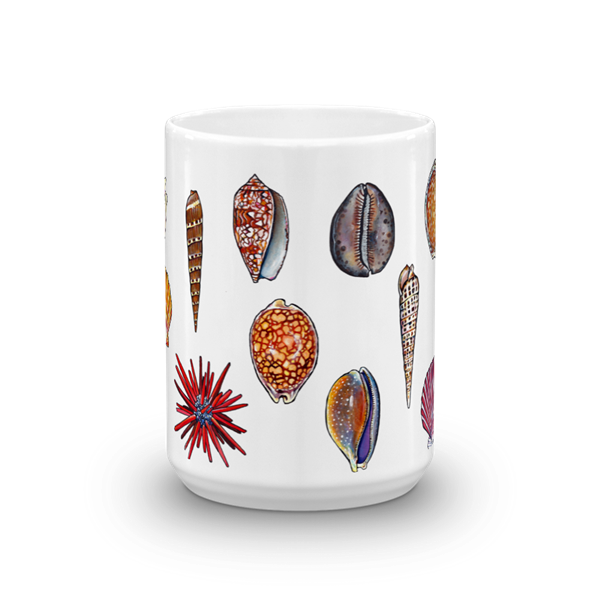 Seashells 15 oz  art  mug.