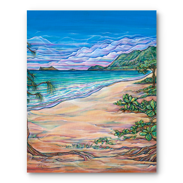 Waimanalo Beach Giclee on Canvas (open edition)