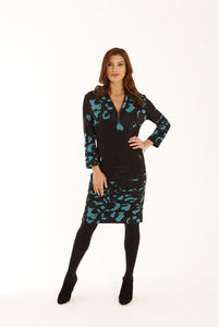 Jacquard Border Dress