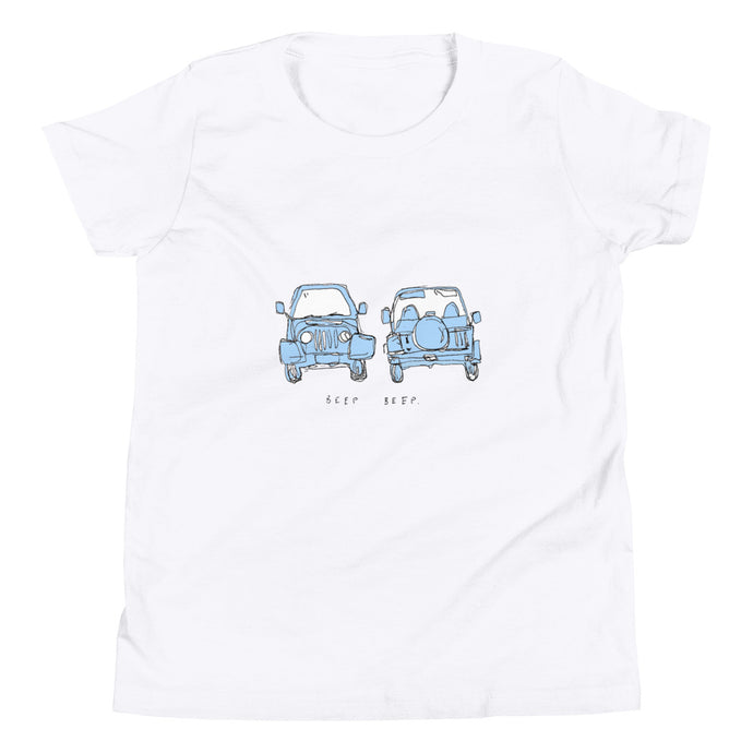 kids blue jeep tee