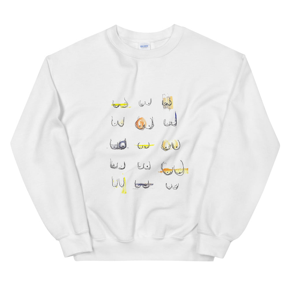 boobs crewneck