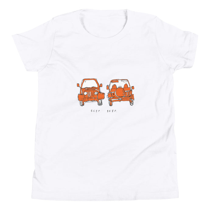 kids red jeep tee