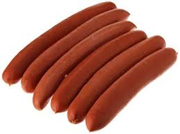 Our all chicken Tube Steak resembles a hot dog, but does not contain nitrates, and is gluten free.  There is no pork in these sausages