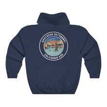 Load image into Gallery viewer, Navy Fishing Logo Hoodie