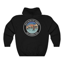 Load image into Gallery viewer, Black Fishing Logo Hoodie