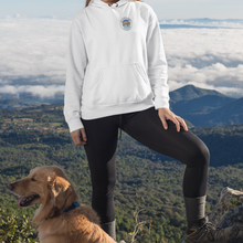 Load image into Gallery viewer, White Fishing Logo Hoodie