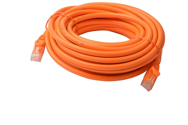 8Ware Cat 6A Utp Ethernet Cable, Snagless - 10M Orange