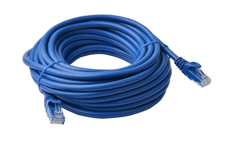 8Ware Cat6a UTP Ethernet Lan Cable 15m Snagless- Blue