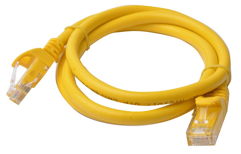 8Ware Cat6a UTP Ethernet Lan Cable 1m Snagless- Yellow